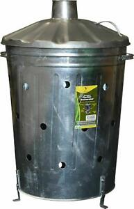 High Quality - Garden Rubbish 90L Galvanized Incinerator Wood Waste Burner Bin
