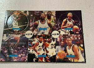 Shaquille O'Neal Pogs / Milk Caps on Card Orlando Magic team set   1990s