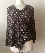 Bryn Walker Lightweight Self-Tie Side Multicoroled Top Size S