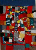 ALEXANDRE PONS/Abstrait contemporain pièce unique format 50x70 cm