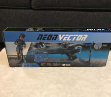 New in Box Neon Vector Scooter with Led Light up Wheels Ages 5 -9and up ~Blue~