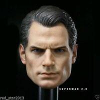 "1/6 Superman Henry Cavill Head Sculpt Toys Fit 12"" Male Figure Body Model Toy"