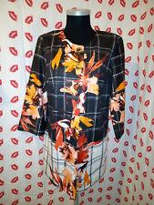 Joseph Ribkoff Astroemeria Peruvian Lily Pattern Jacket / Coat Size 12