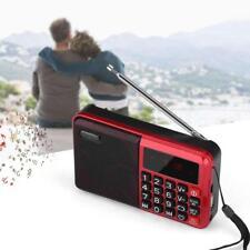 Radio FM Portatile Digitale Lettore Mp3 Micro SD TF USB Disco Flash LED Display