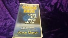 TAKING BACK WHAT THE DEVIL STOLE by JOYCE MEYER the 6 CASSETTE tapes AUDIO BOOK