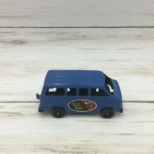 "1978 Vintage Tootsietoy 3.5"" Blue Van Buzy Bee Bus USA Diecast Toy"