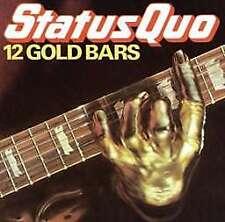 Ltd Edition UK LP Status Quo - 12 Gold Bars 2016 Gold Vinyl