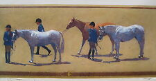 CHILDREN With HORSES EQUESTRIAN RIDING  Wallpaper Border 6 ""