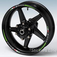 Adesivi moto strisce ruote per cerchi Z1000 stripes stickers Z 1000