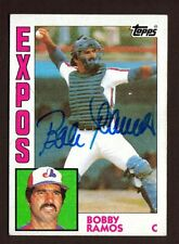 1984 TOPPS #32 BOBBY RAMOS EXPOS AUTO SIGNED CARD JSA STAMP B