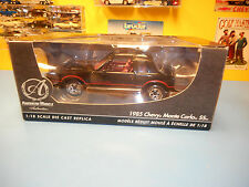 "AMERICAN  MUSCLE  ERTL  AUTHENTIC  1985 CHEVROLET MONTE CARLO SS  BLACK    ""NIB"""