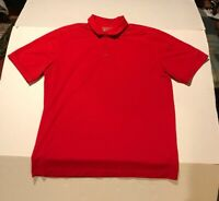Nike Golf Polo Dri-fit Mens Red Size Large EUC Short sleeve Tour Performance