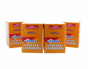 4000 Coffee Drink Stirrer Straw Stix Beverage Cocktail Plastic Dispenser Pack
