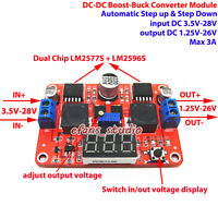 DC-DC Boost-Buck Converter Step Up/Down Module 3.5-28V to 2-26V 3A LED Display