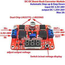 LED DC-DC Boost Buck Step up down Converter 3.5-28V To 1.25-26V 5V 6V 9V 12V 24V