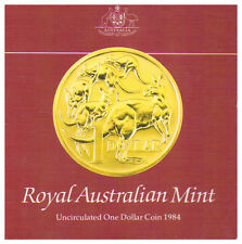 1984 $1 Coin UNC in Folder - First issue of $1 coin