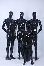 Abstrakte Schaufensterpuppen schwarz egghead maskulin Neu Männlich Mann glänzend