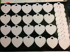 Heart Shaped Gift Tags/labels Made From Plain White Card X30
