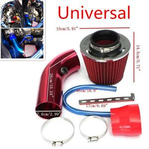 """Aluminum Alloy Car Air Intake Kit Pipe Diameter 3"""" w/ Filter+ Clamp+ Accessories"""