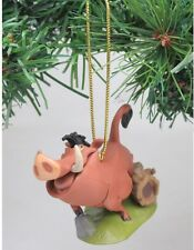 """Authentic Disney Lion King Pumba Christmas Holiday Ornament PVC Figure 3"""" ~ New"""