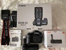 Canon EOS 6D Mark II 26.2MP Digital SLR Camera - Black w/ Canon Battery Grip