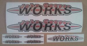 John Cooper Works Mini Bodywork sticker set large
