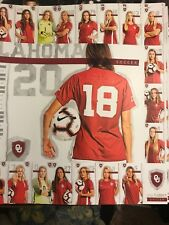 2018 Oklahoma sooners women's soccer schedule poster free shipping
