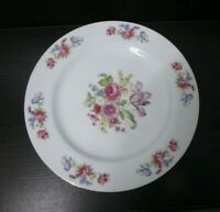 """10"""" Plate Occupied Japan Floral Transfer-ware Hira China Porcelain 1947-1952"""