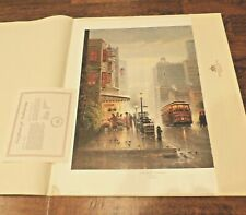 1990 G. Harvey City By The Bay San Francisco Litho Print Limited Edition w COA