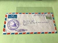 Union of Burma Rangoon Registered Ports Corporation stamps cover ref 50483