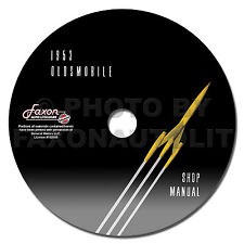 1953 Oldsmobile Shop Manual on CD ROM 53 Olds 88 and 98 Repair Service