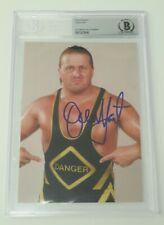 Owen Hart WWF WWE Signed Autograph Auto 5x7 Photo JSA BAS Beckett Slab