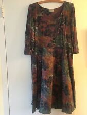 Plume And Thread Women Autumn Colors Dress size L or XL 3/4 sleeve $200 original
