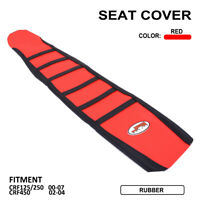 Motorcycle Gripper Soft Seat Cover For Honda CR125R CR250R 00-08 CRF450R 02-2004