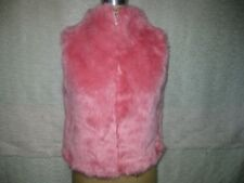 COLLECTION XIIX HOT PINK SHAGGY FAUX FUR VEST SATIN LINED SZ S/M NWOT!