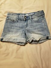Express Sequin Denim Shorts Size 0