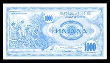 Macedonia 1000 1,000 Denar 1992 P. 6 UNC Note