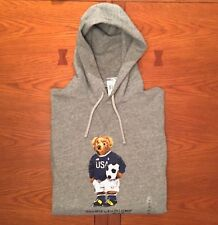 85bc6fbd Polo Ralph Lauren Big and Tall Mens Gray Soccer Polo Bear Hoodie Jacket 2xb