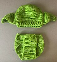 Handmade Knitted Baby Star Wars Yoda Costume Outfit Newborn
