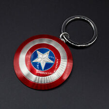 Marvels Captain America Shield Pewter Key Chain