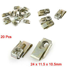 20pcs 24x11.5x10.5mm U-Type Clips Speed Nuts For Auto Car Dashboard Panel Fender