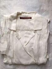 Comptoir Des Cottonniers 38 10 Creamy White Linen Wrap Dress