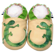 Soft Sole Leather Baby Infant Kids Children Boy Girl GeckoGreen Gift Shoe 12-18M