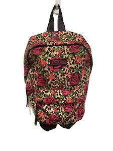 Betsey Johnson leopard rose Backpack