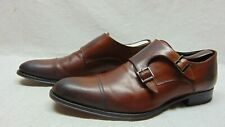 To Boot New York Ultra Flex Positano Leather Double Monk-Strap Shoes Men's 10 M