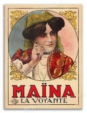"""1930s Gypsy Fortune Teller Poster - Maina Juan - As seen on """"FRIENDS"""" - 20x28"""
