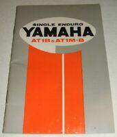 1970 YAMAHA 125 AT1B AT1M-B Owner's Manual ENDURO MOTOCROSS