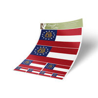 Georgia Flag Sticker Decal Variety Size Pack 8 Total Pieces