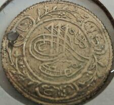 1222 / 1804 Ottoman empire silver token, Holed