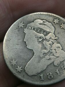 1815 Capped Bust Quarter 25 Cent Piece- Good Details